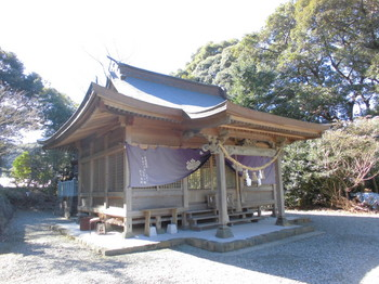 日向市平岩 愛宕神社 ご社殿6.JPG