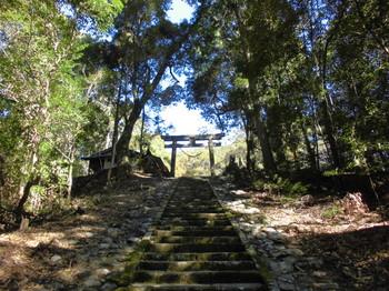 西米良村 村所八幡神社 参道階段頂上付近.JPG