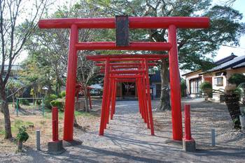 高鍋町1 稲荷神社(いなりじんじゃ)高鍋町 入り口鳥居.jpg